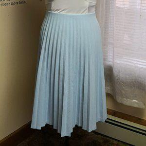 Vintage 1970s light blue accordion pleated skirt